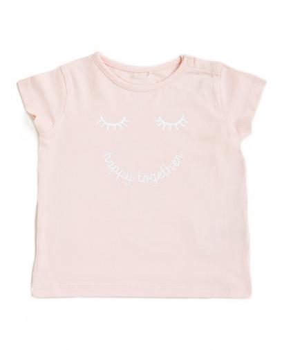 Lichtroze t-shirt